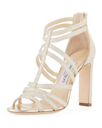 Selina Glitter Strappy Sandal
