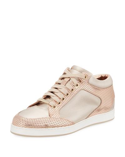 Miami Metallic Leather/Satin Sneaker