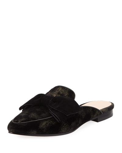 carnegie metallic jacquard mule loafer