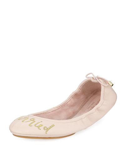 gwen tie leather ballerina flat