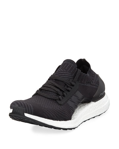 Ultra Boost X Knit Sneaker, Black/White
