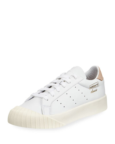 Everyn Perforated Platform Sneaker, White