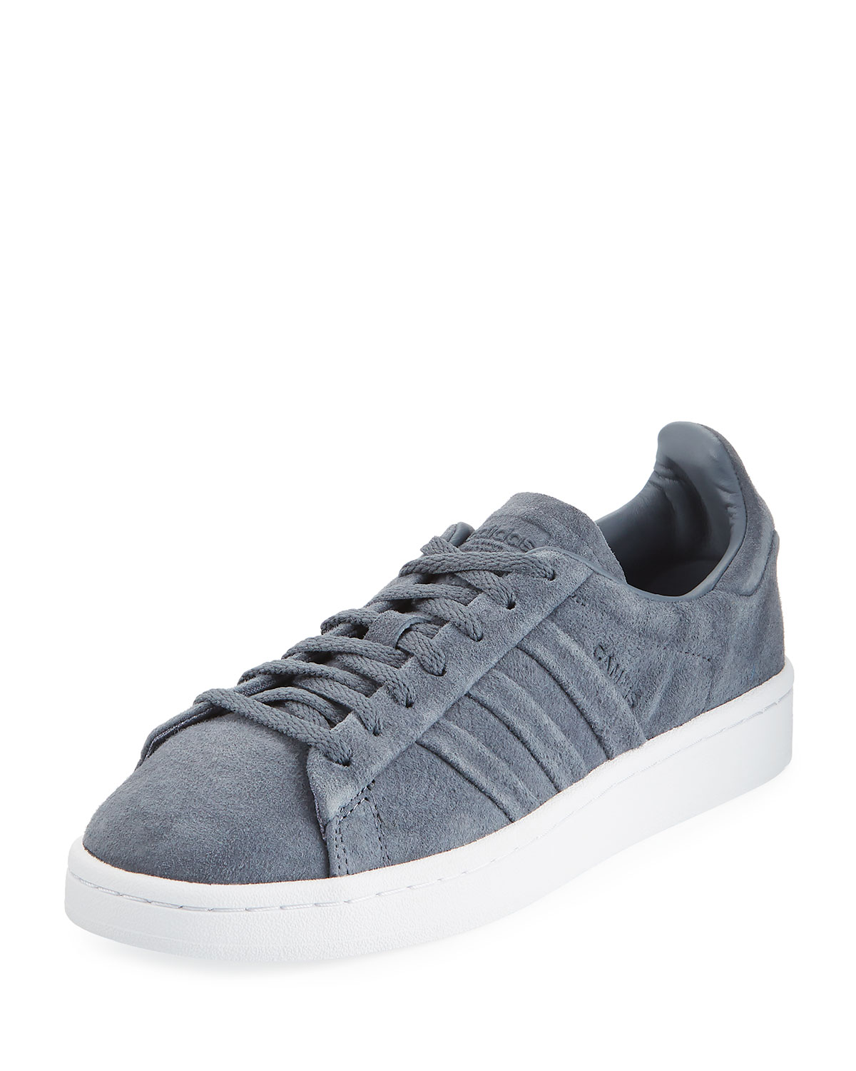 CAMPUS STITCH & TURN SUEDE LACE-UP SNEAKERS, ONYX
