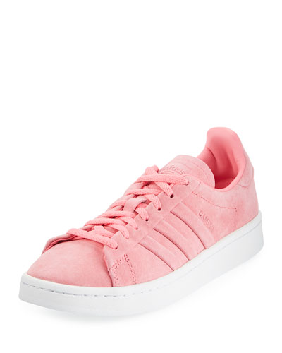 Campus Stitch & Turn Suede Lace-Up Sneaker, Chalk Pink