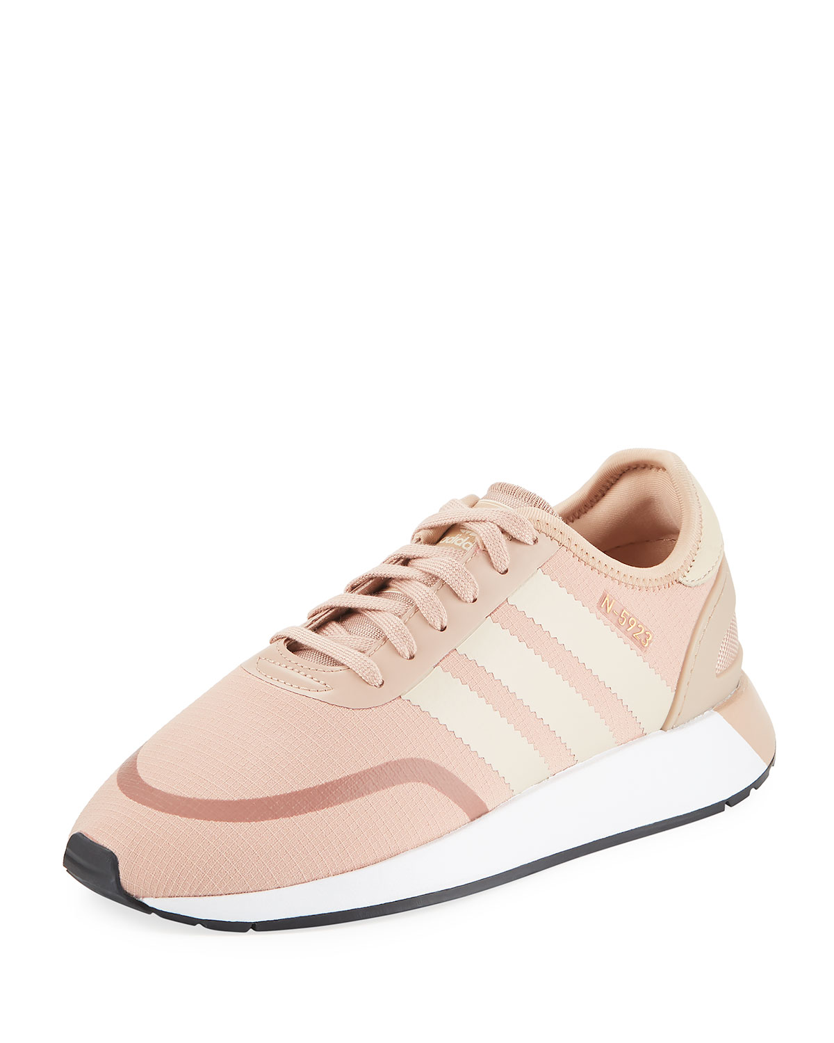 a4f21db2781 Adidas Originals N-5923 Runner Sneakers In Pink - Pink In Ash Peach Linen