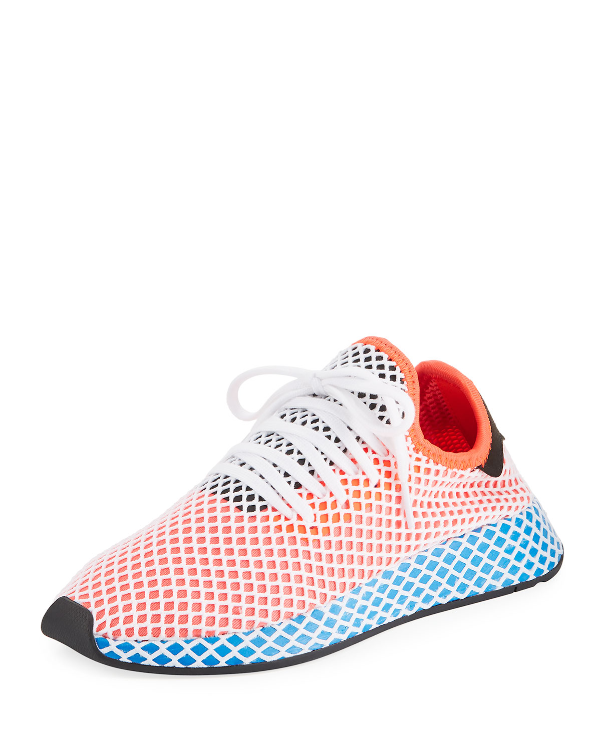 55cf18b9a Adidas Originals Sneakers Adidas Deerupt Runner Sneakers In Knit And Mesh  Stretch Net Effect In Blue