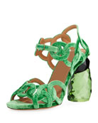 Velvet Rings Resin-Heel Sandal