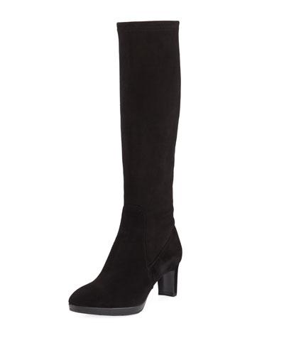 Quick Look. Aquatalia · Dahlia Heeled Suede Knee Boot. Available in Black