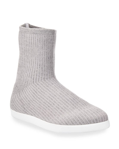 Dean Knit Cashmere Sock Booties