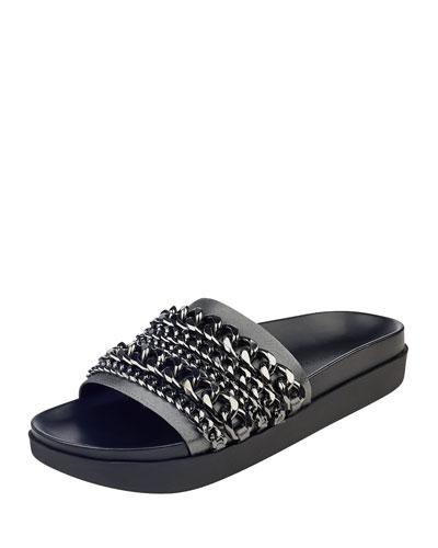 Shiloh Chain Flat Slide Sandal