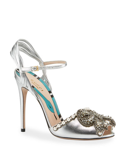 Allie Bow Metallic Sandal