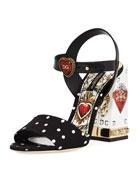Cady Sacred Heart Printed Sandal
