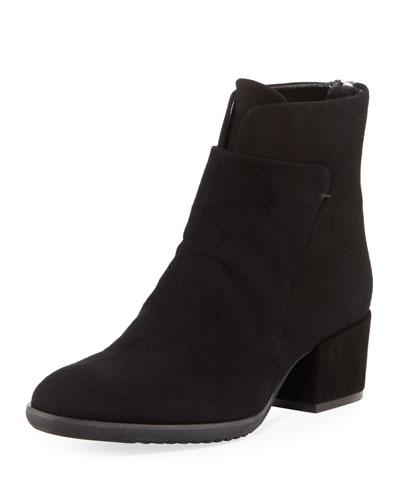 Fleo Comfort Low-Heel Bootie, Black