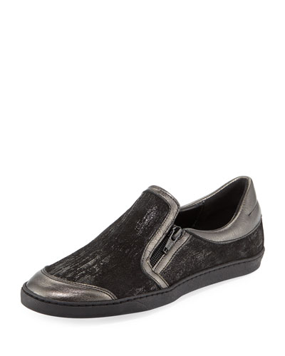 Frida Novel Metallic Slip-On, Black