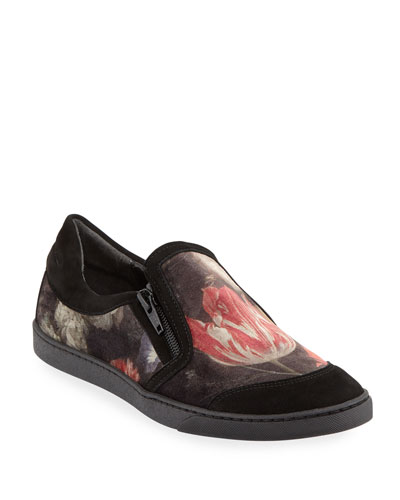 Frida Novel Floral Slip-On, Black