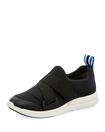 Neoprene Leather-Trim Slip-on Sneaker