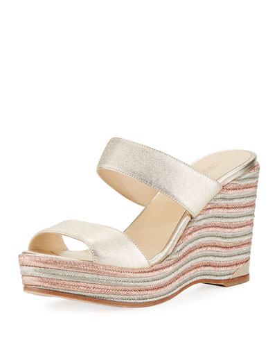 Parker Metallic Wedge Platform Sandal