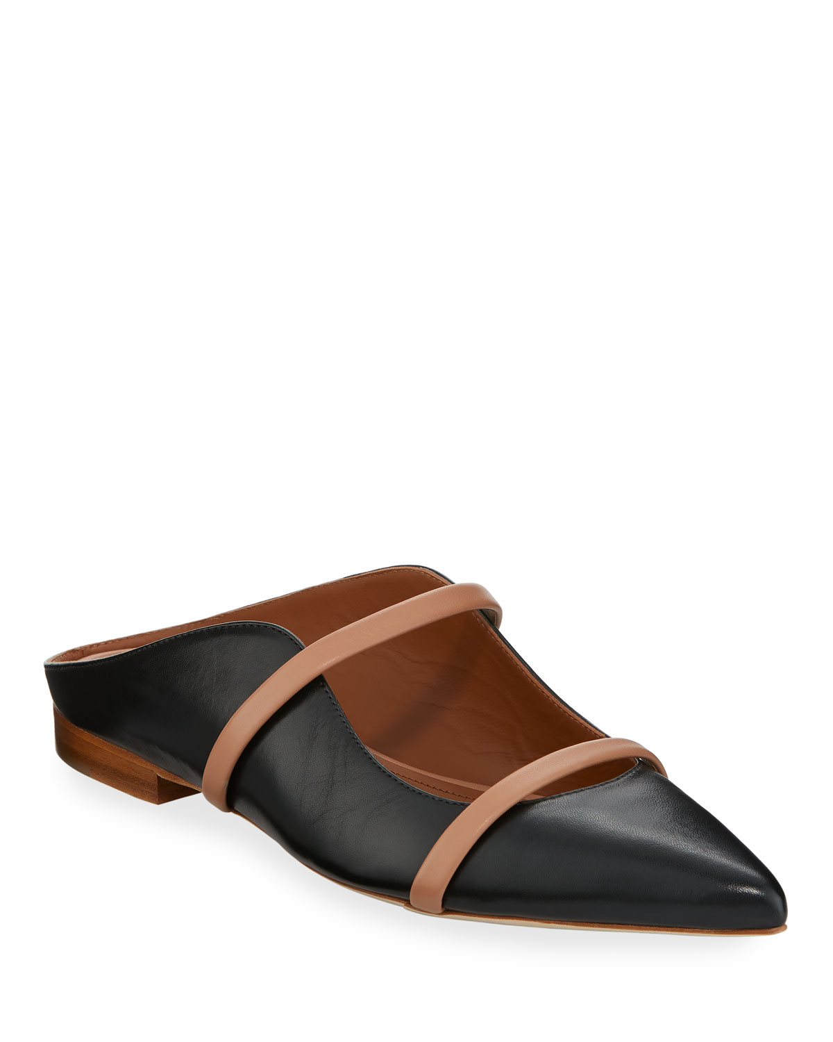 Maureen Flat Leather Mules