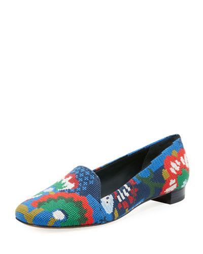 Sadie Needlepoint Flat Loafer