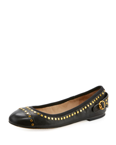 Holden Studded Leather Ballerina Flat