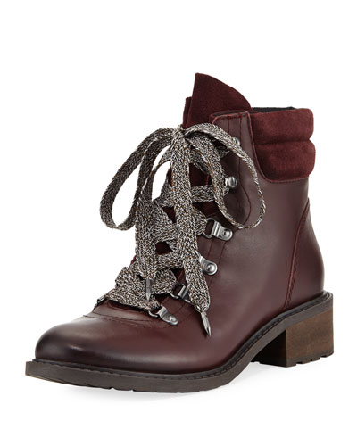 Darrah Velutto Lace-Up Boot