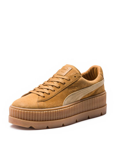 Low-Top Suede Creeper Sneaker