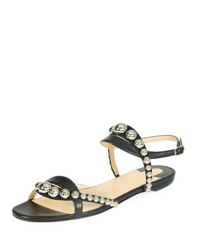 Galleria Flat Napa/Suede Red Sole Sandal