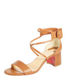 Choca 55mm Calf Leather Red Sole Sandal