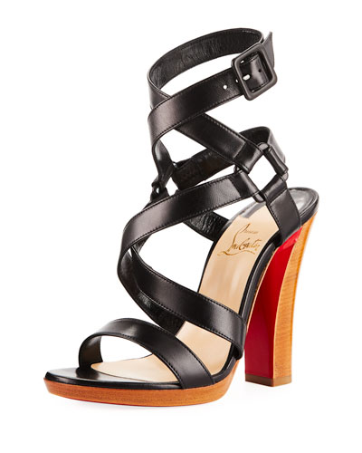 Corsini 120 Cross-Strap Red Sole Sandal