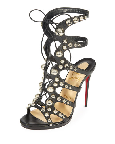 Amazoubille 120mm Kidskin Gladiator Red Sole Sandal