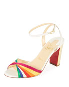 Nasee Basse Rainbow Red Sole Sandal