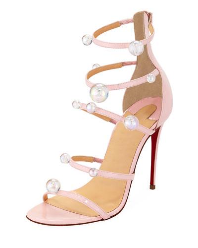 Atonana Patent Strappy Red Sole Sandal