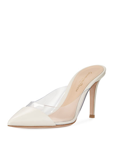 Slide Plexi-Side Cap-Toe Mule
