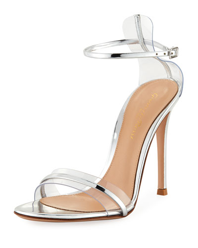 Plexi/Metallic 105mm Ankle-Wrap Sandal