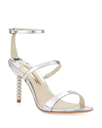 d2a131500eb94 Quick Look. Sophia Webster · Rosalind 85mm Metallic Three-Strap Sandal.  Available in Silver