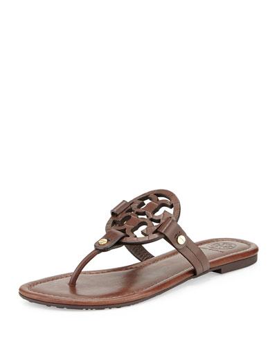 Miller Logo Flat Sandal, Chocolate