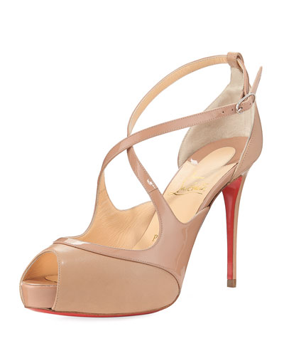 Mirabella Strappy Patent Red Sole Sandal