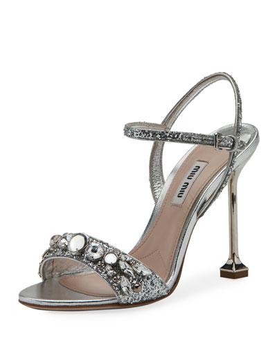 Jeweled Glitter 105mm Sandal