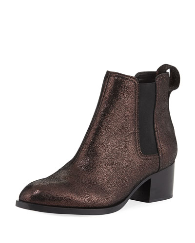 Walker Metallic Leather Chelsea Bootie
