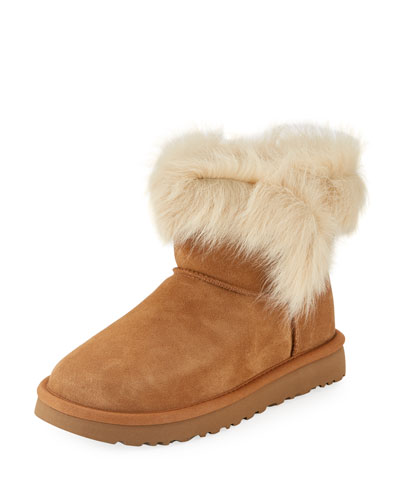 Milla Mini Shearling-Trim Boot