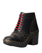Clog Studded 60mm Ankle Boot
