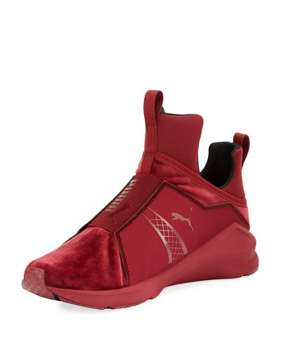 Fierce Velvet Stretch Sneaker, Brick