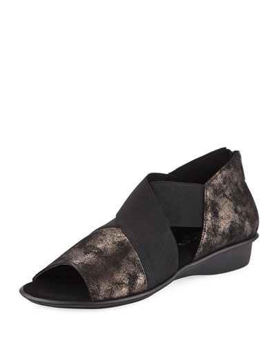 Sesto Meucci ELMINE COMFORT SLIP-ON WITH METALLIC TRIM, BLACK