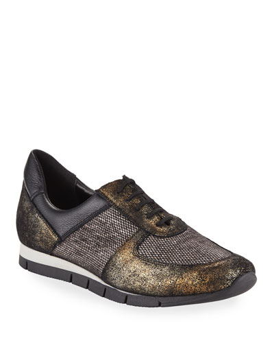 Candy Metallic Trainer Sneaker, Black