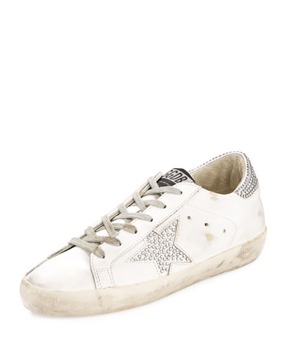 SUPERSTAR CRYSTAL-STUDDED LOW-TOP SNEAKERS