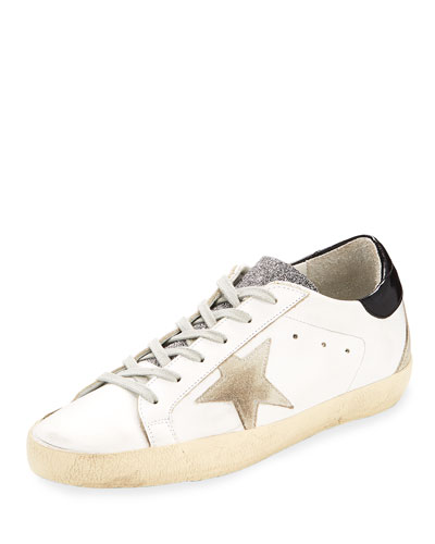 Superstar Glittered Leather Low-Top Sneaker