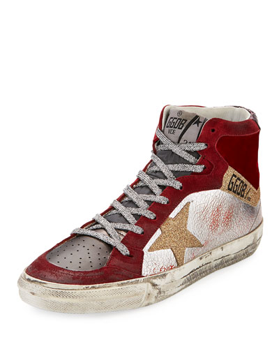Mixed High-Top Star Sneaker