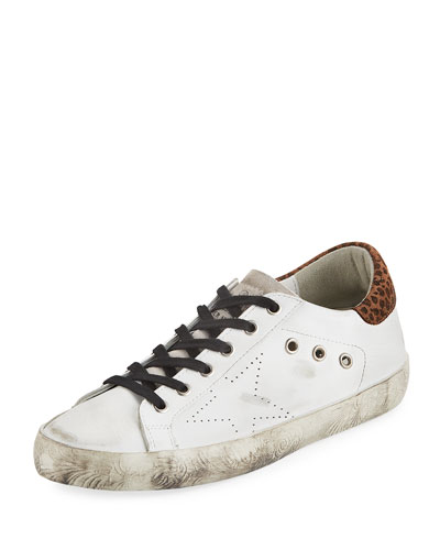 Superstar Leopard Distressed Sneakers
