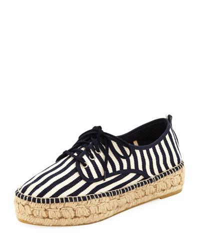 Alfie Striped Canvas Espadrille