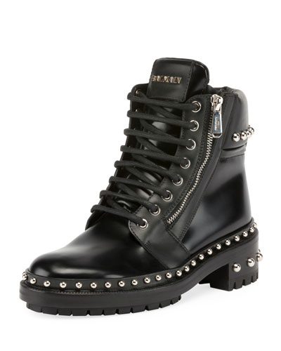 Ranger Studded Leather Army Boots